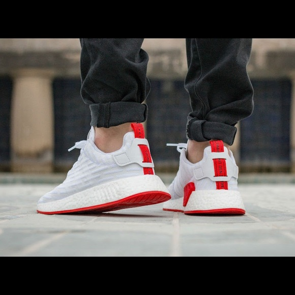 sale retailer 1f9d2 352f8 Adidas NMD R2 white and red